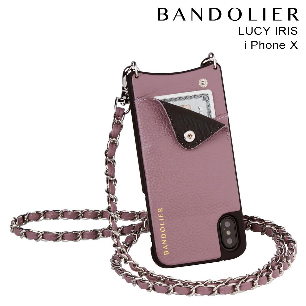 バンドリヤー BANDOLIER iPhoneX ケース スマホ アイフォン LUCY IRIS レザー メンズ レディース