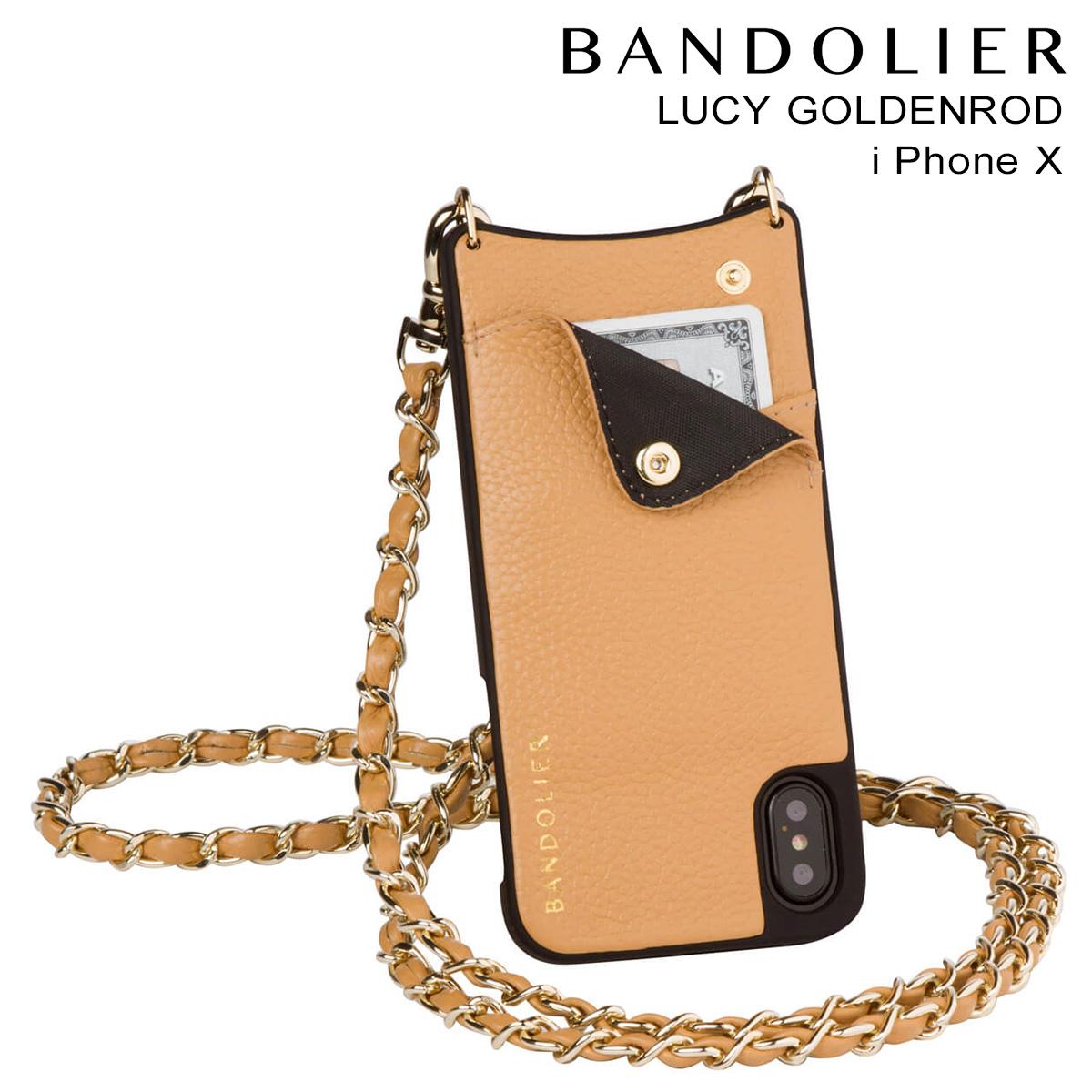 バンドリヤー BANDOLIER iPhoneX ケース スマホ アイフォン LUCY GOLDENROD レザー メンズ レディース