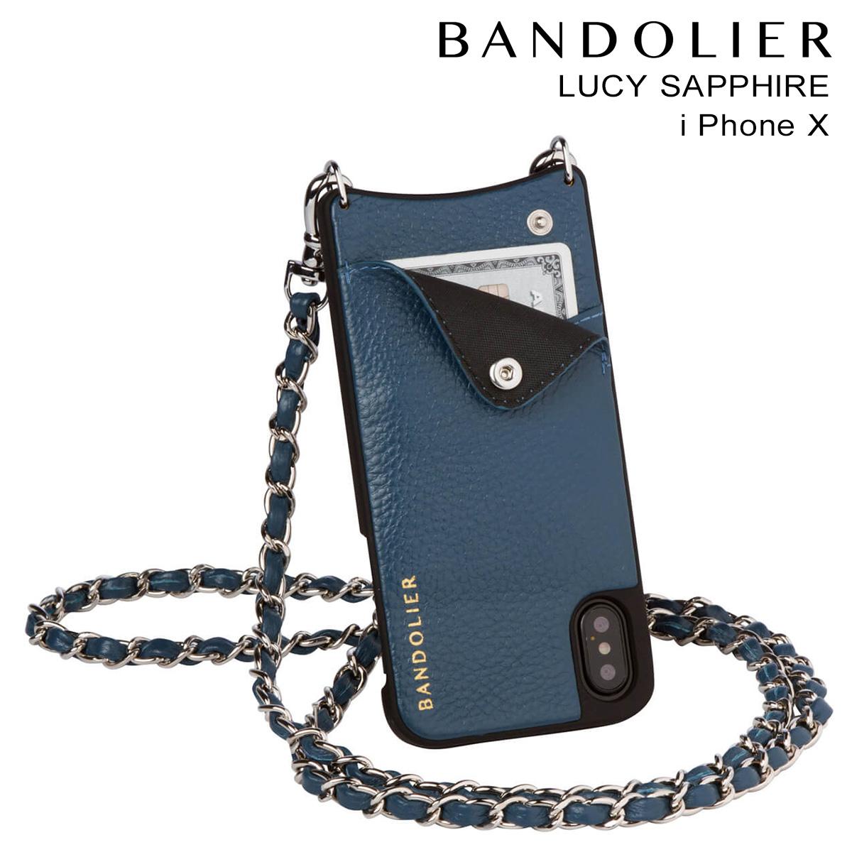 バンドリヤー BANDOLIER iPhoneX ケース スマホ アイフォン LUCY SAPPHIRE レザー メンズ レディース [9/19 新入荷]