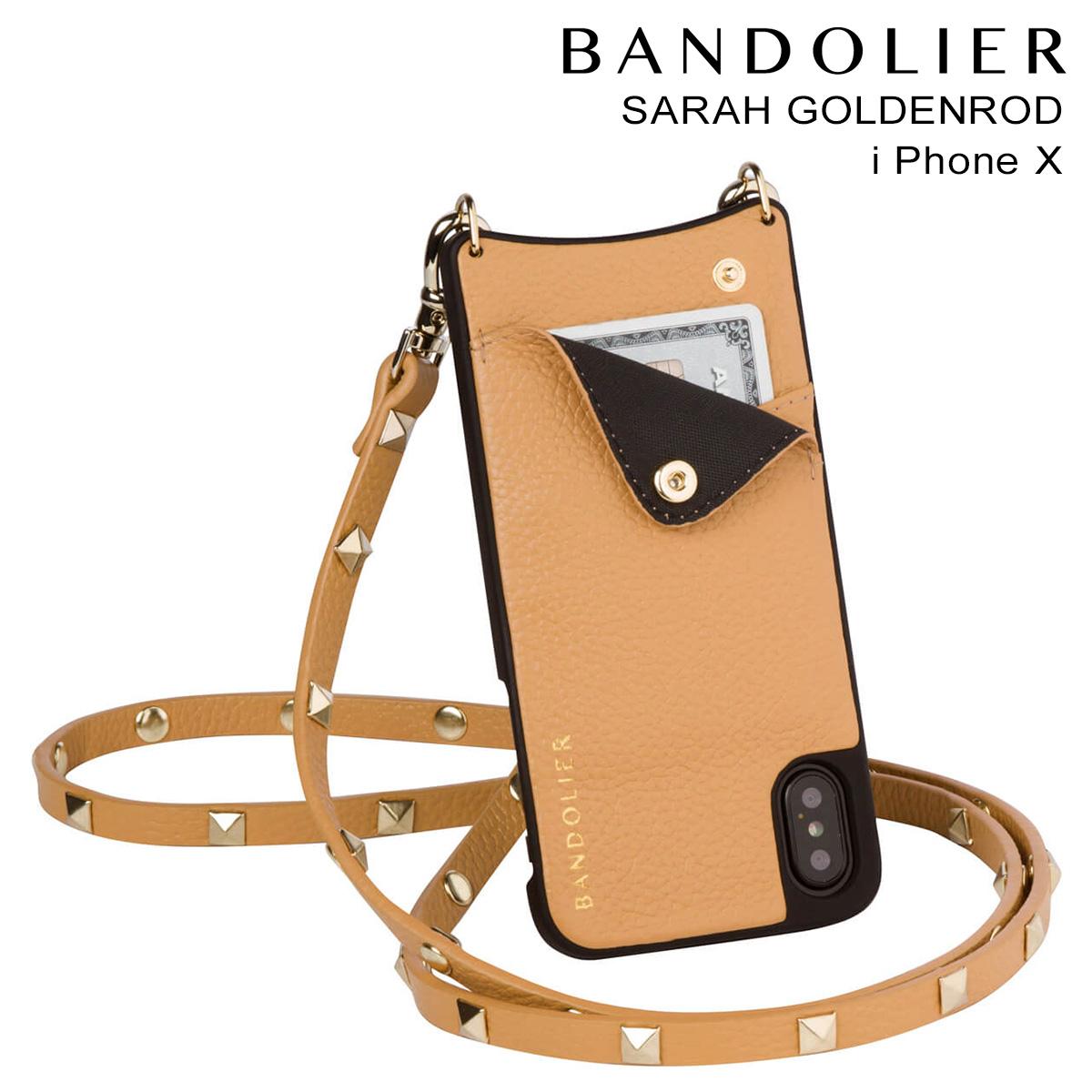 バンドリヤー BANDOLIER iPhoneX ケース スマホ アイフォン SARAH GOLDENROD レザー メンズ レディース