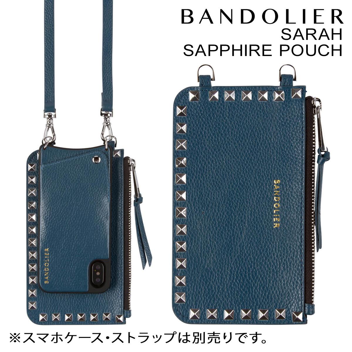 バンドリヤー BANDOLIER ポーチ SARAH SAPPHIRE POUCH レザー メンズ レディース ブルー [9/20 新入荷]