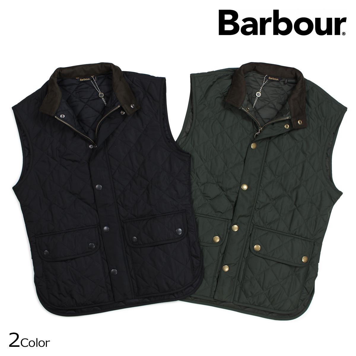 バブアー Barbour ベスト ローワーデイルキルト ジレ LOWERDALE GILET ブラック ダークグリーン MQU0495