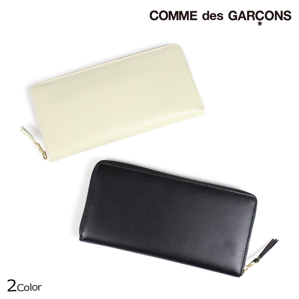 COMME des GARCONS コムデギャルソン 財布 長財布 メンズ レディース ラウンドファスナー ブラック オフ ホワイト SA0110