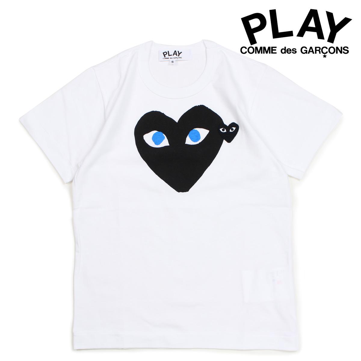 COMME des GARCONS PLAY Tシャツ 半袖 コムデギャルソン レディース BLACK HEART T-SHIRT ホワイト AZT087 [10/3 新入荷]