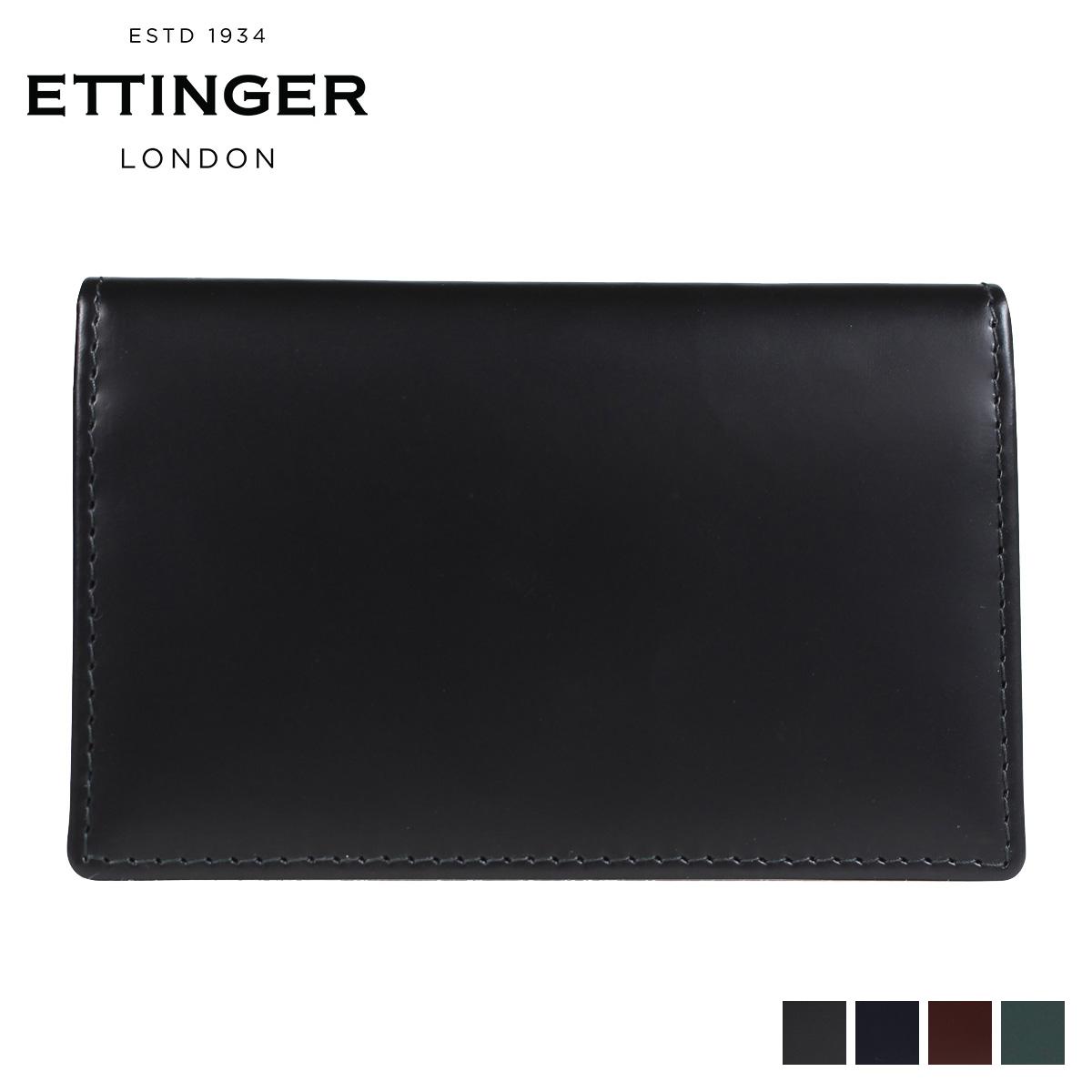 ETTINGER エッティンガー 名刺入れ カードケース メンズ BRIDLE VISITING CARD CASE ブラック ネイビー ブラウン グリーン 黒 BH143JR [3/12 再入荷]