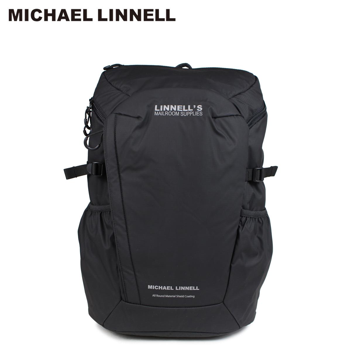【最大1000円OFFクーポン配布】 MICHAEL LINNELL マイケルリンネル リュック バッグ 29L メンズ レディース バックパック BACKPACK ブラック MLAC-01 [10/22 新入荷]