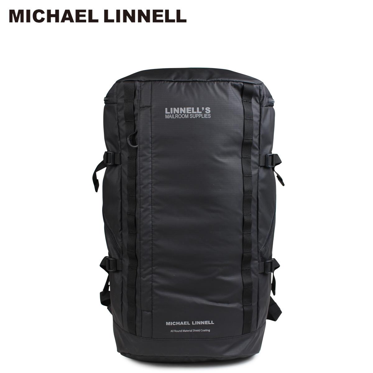 【最大1000円OFFクーポン配布】 MICHAEL LINNELL マイケルリンネル リュック バッグ メンズ レディース バックパック BACKPACK ブラック MLAC-03 [10/22 新入荷]
