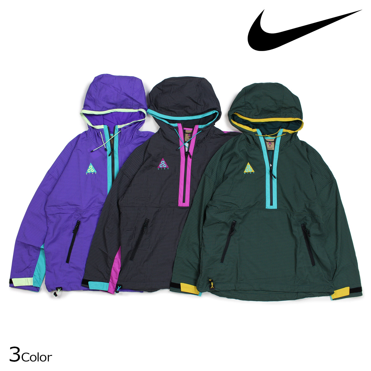 NIKE Nike Woo jacket men nylon jacket ACG WOVEN HOOD ANORAK JACKET 931907   9 25 Shinnyu load  865ab8b73772