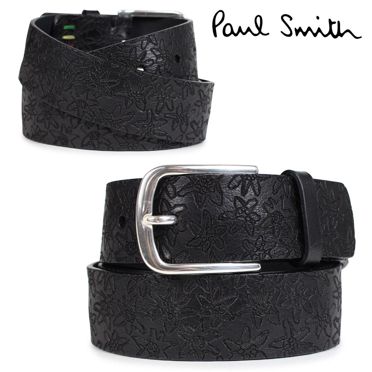 Paul Smith ベルト メンズ 本革 ポールスミス レザーベルト ブラック M2A 5536 ALASER