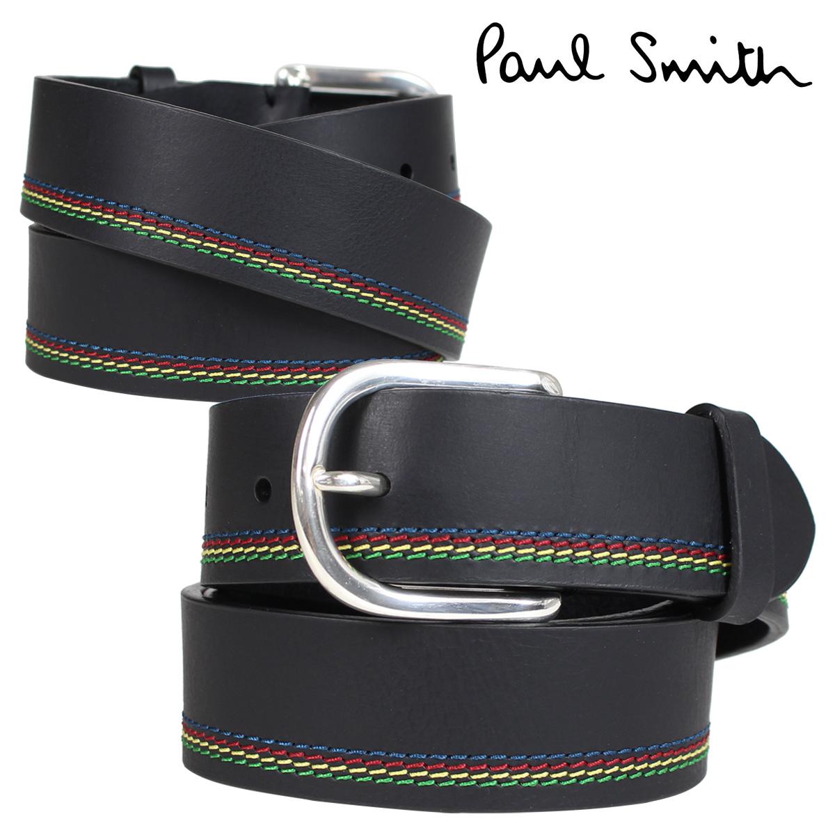 Paul Smith ベルト メンズ 本革 ポールスミス レザーベルト ブラック 黒 M2A 5538 APSSTI
