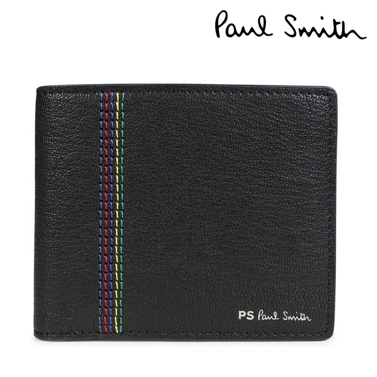 Paul Smith 財布 メンズ 二つ折り ポールスミス WALLET レザー ブラック M2A 5321 APSSTI [10/11 新入荷]