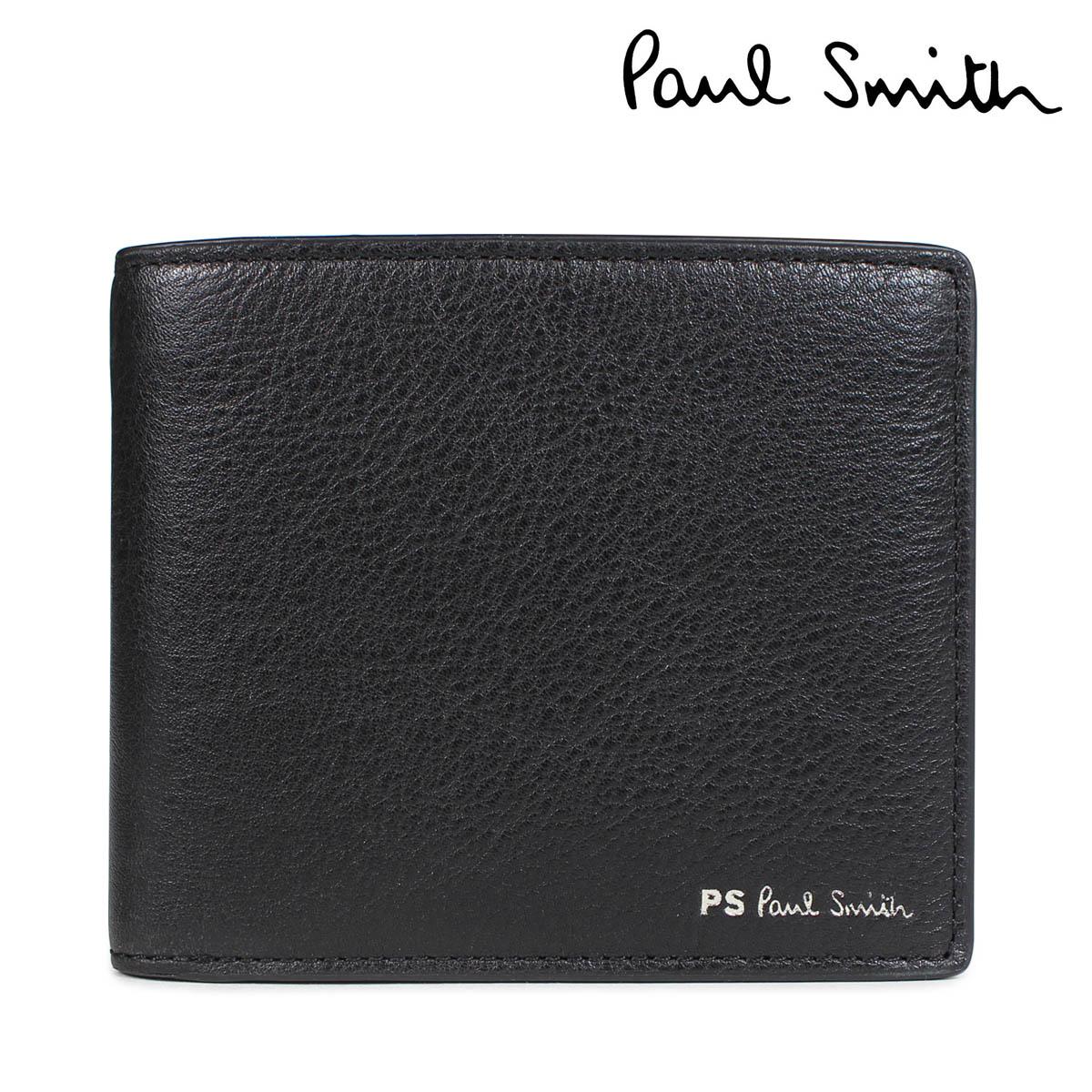 Paul Smith 財布 メンズ 二つ折り ポールスミス WALLET レザー ブラック M2A 5321 APSSTR [10/11 新入荷]