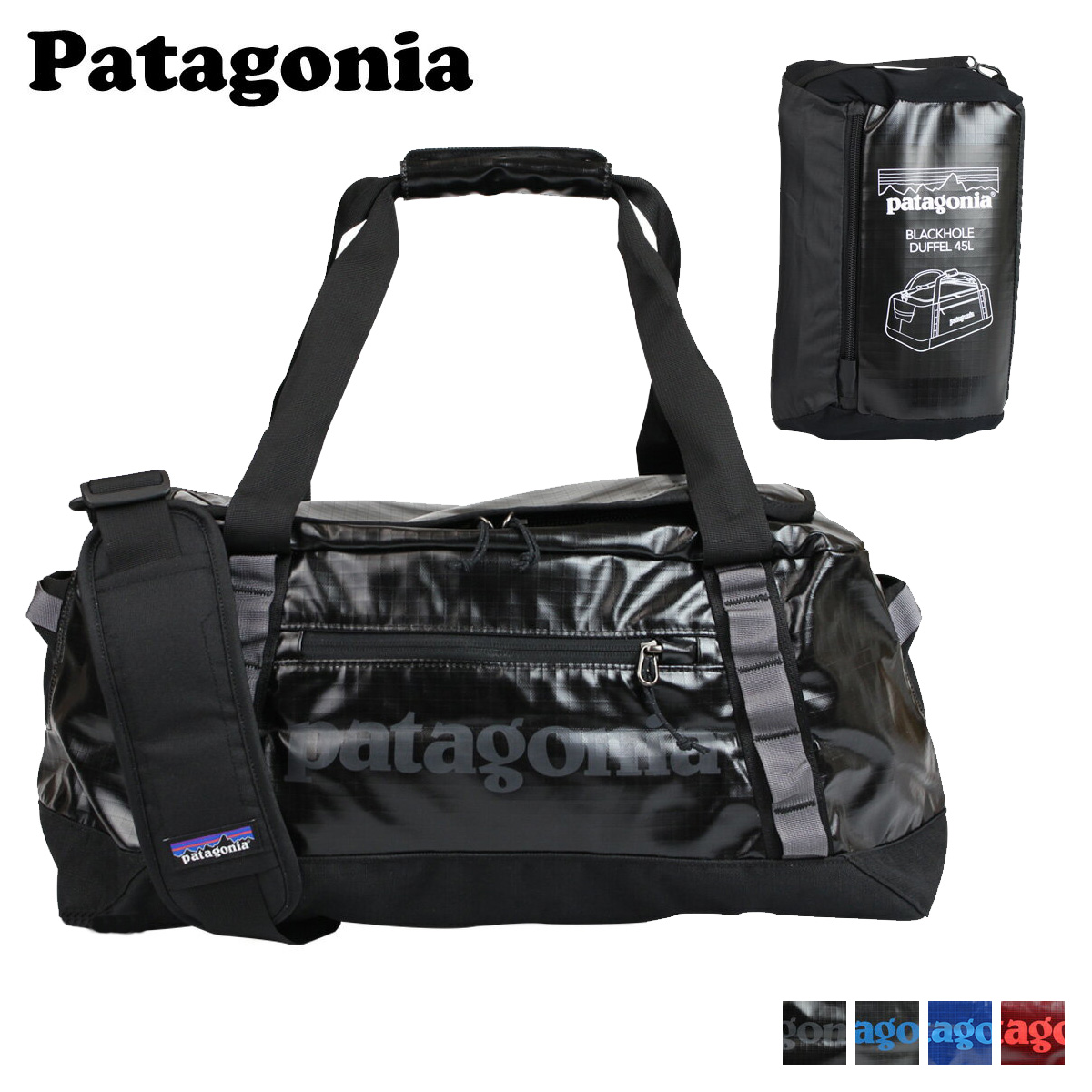 Patagonia Men S Women Duffle Bag 2 Way 49336 4 Color Black Hole Duffel 45l 11 18 New In Stock