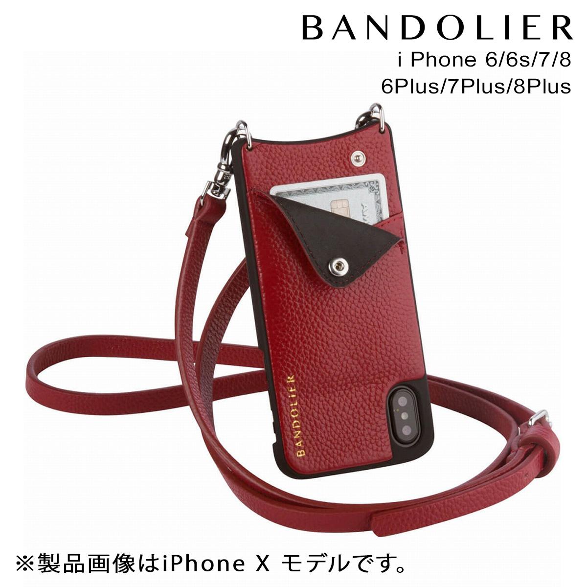 バンドリヤー BANDOLIER iPhone8 iPhone7 7Plus 6s ケース スマホ アイフォン プラス EMMA CRIMSON メンズ レディース