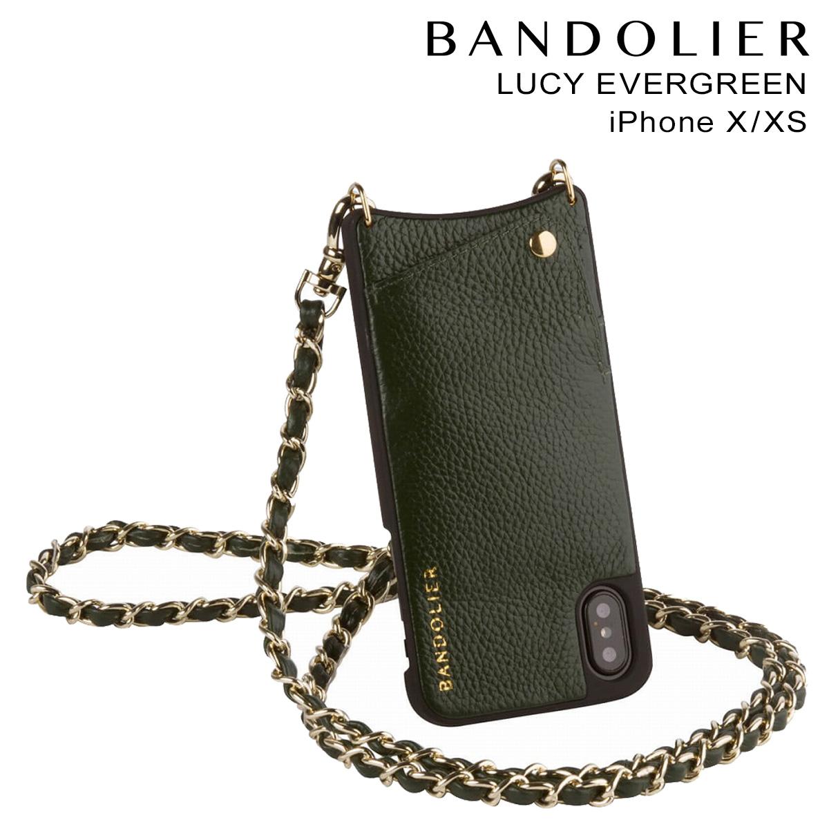 バンドリヤー BANDOLIER iPhoneXS X ケース スマホ アイフォン LUCY EVERGREEN レザー メンズ レディース