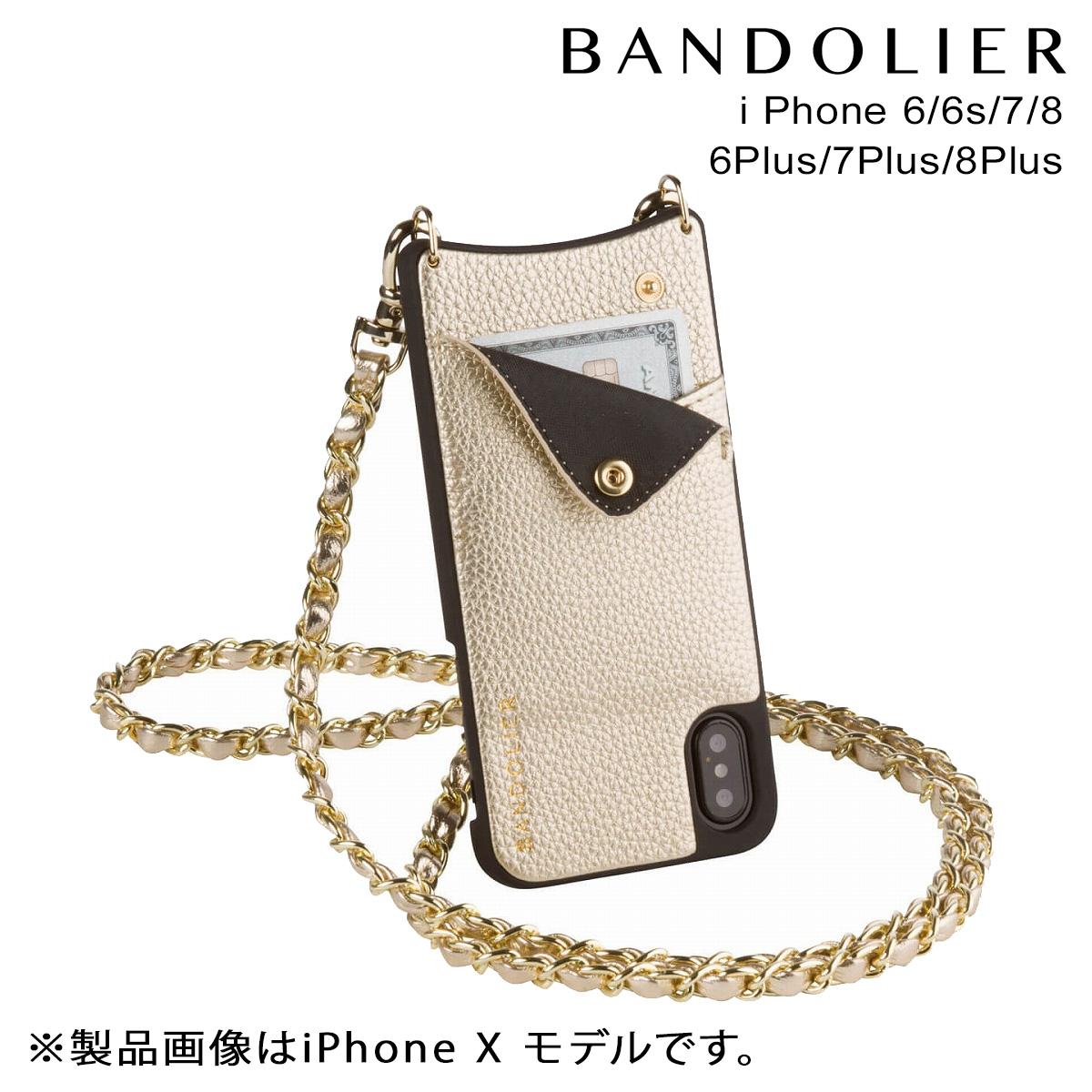 バンドリヤー BANDOLIER iPhone8 iPhone7 7Plus 6s ケース スマホ アイフォン プラス LUCY RICH GOLD メンズ レディース
