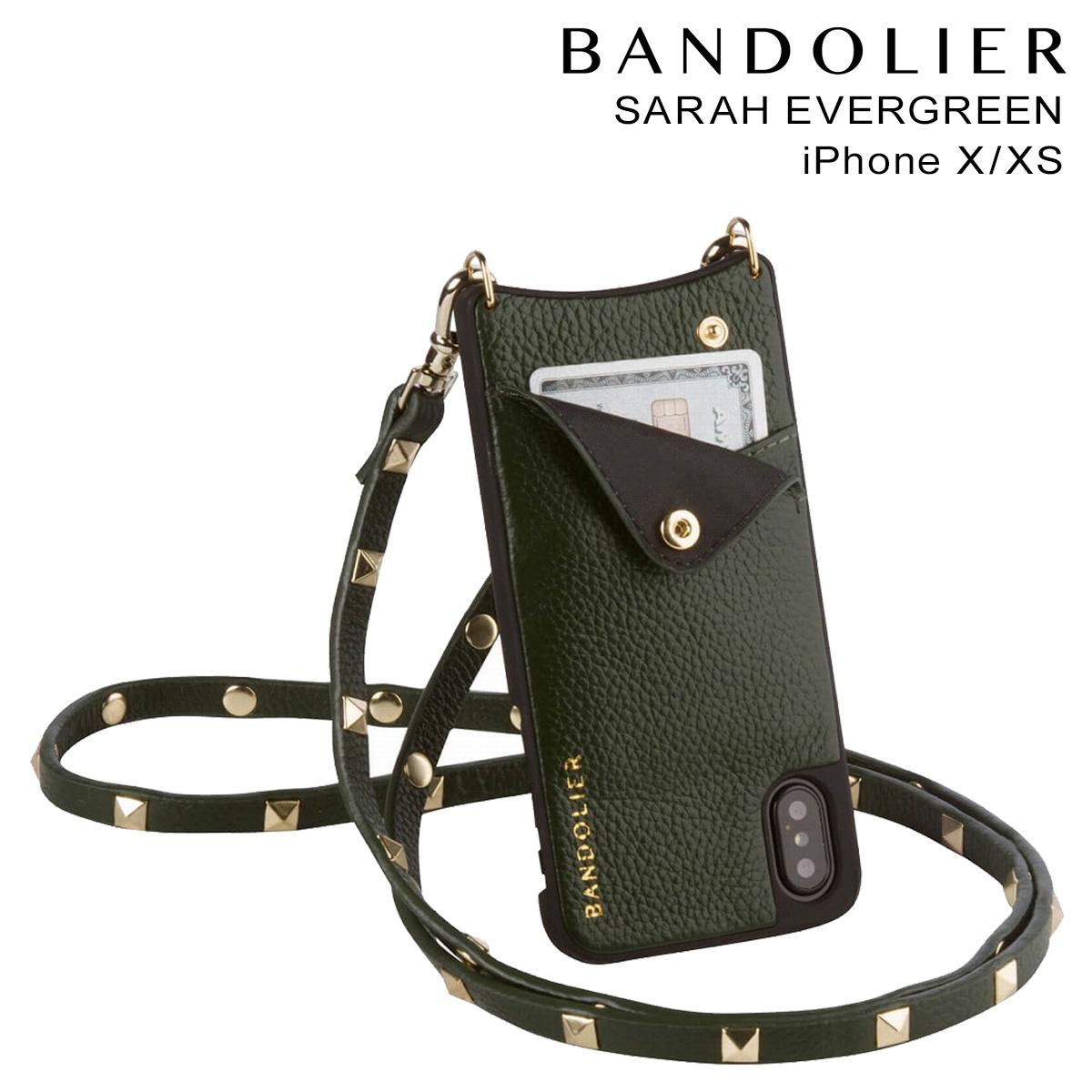 バンドリヤー BANDOLIER iPhoneXS X ケース スマホ アイフォン SARAH EVERGREEN レザー メンズ レディース