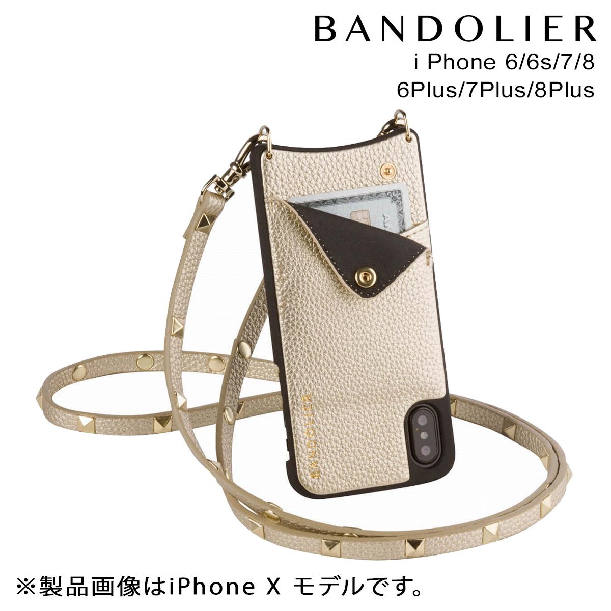 バンドリヤー BANDOLIER iPhone8 iPhone7 7Plus 6s ケース スマホ アイフォン プラス SARAH RICH GOLD メンズ レディース