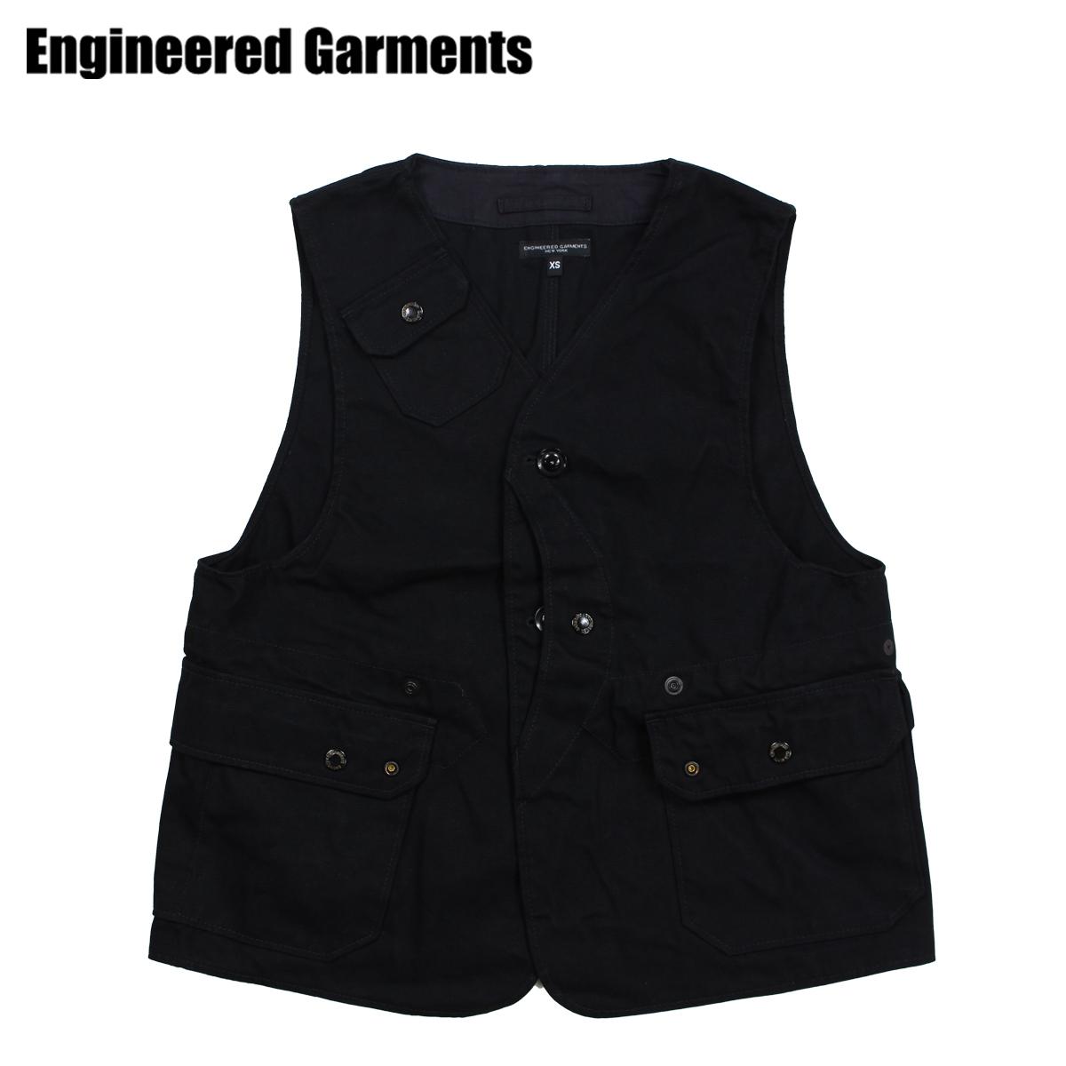 ENGINEERED GARMENTS エンジニアドガーメンツ ベスト メンズ ジレ UPLAND VEST ブラック 黒 F8C0269