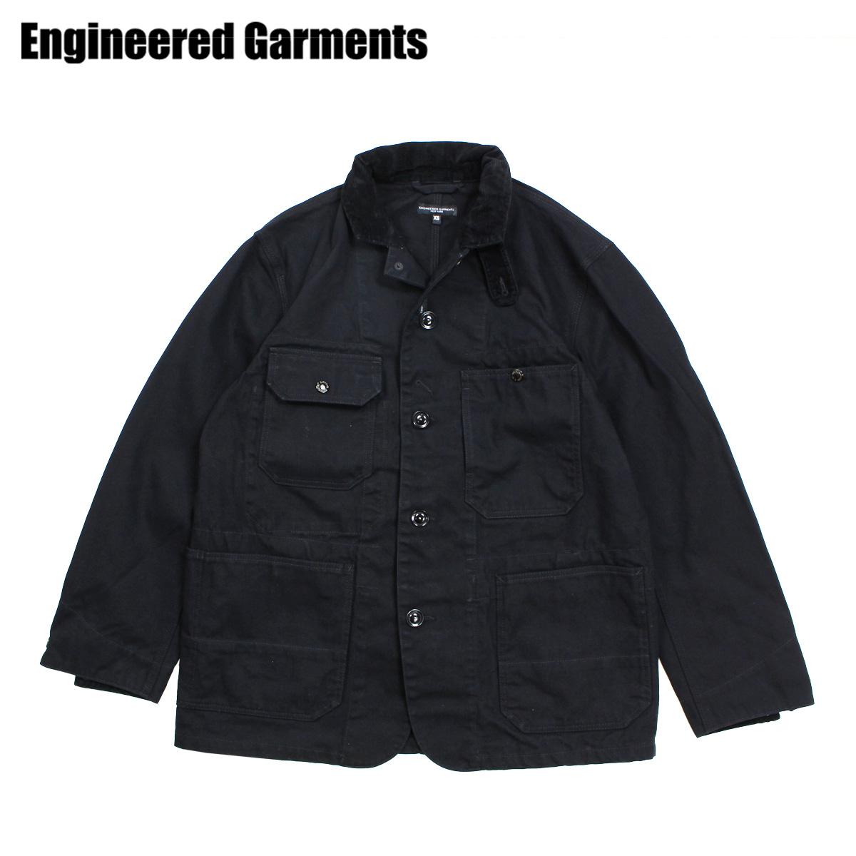 ENGINEERED GARMENTS エンジニアドガーメンツ ジャケット メンズ ロング LOGGER JACKET ブラック 黒 F8D1069