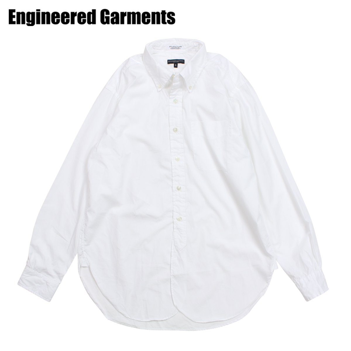 ENGINEERED GARMENTS エンジニアドガーメンツ シャツ メンズ 長袖 オックスフォードシャツ 19 CENTURY BUTTON DOWN SHIRT ホワイト 白 F8A0111