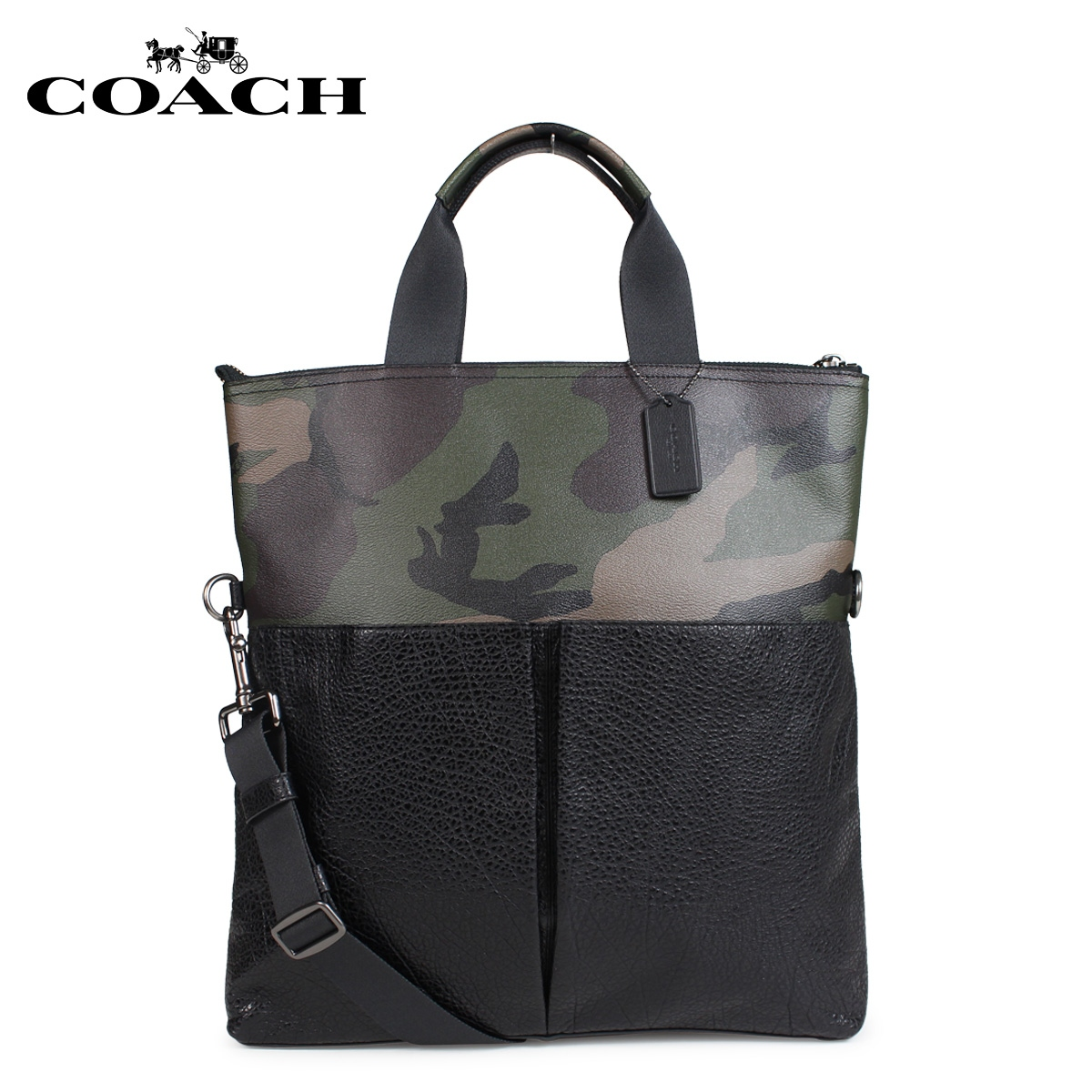 d939a819d104 COACH coach bag tote bag men 2WAY green duck F29706  load planned Shinnyu  load in reservation product 11 9 containing