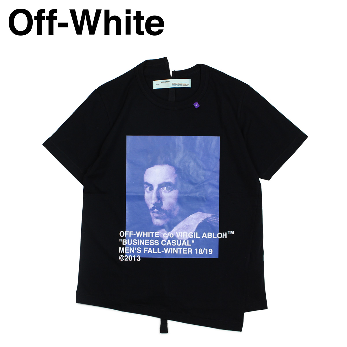 オフホワイト Off-white Tシャツ 半袖 メンズ BERNINI PRINT T-SHIRTS ブラック OMAA032 185011
