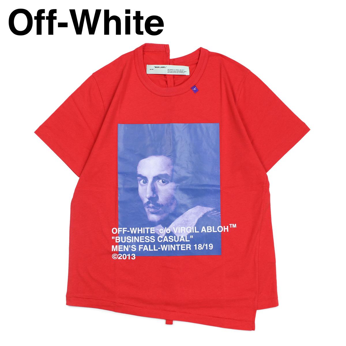 Off-white Off-white T-shirt short sleeves men BERNINI PRINT T-SHIRTS red  OMAA032 185011 [11/19 Shinnyu load]