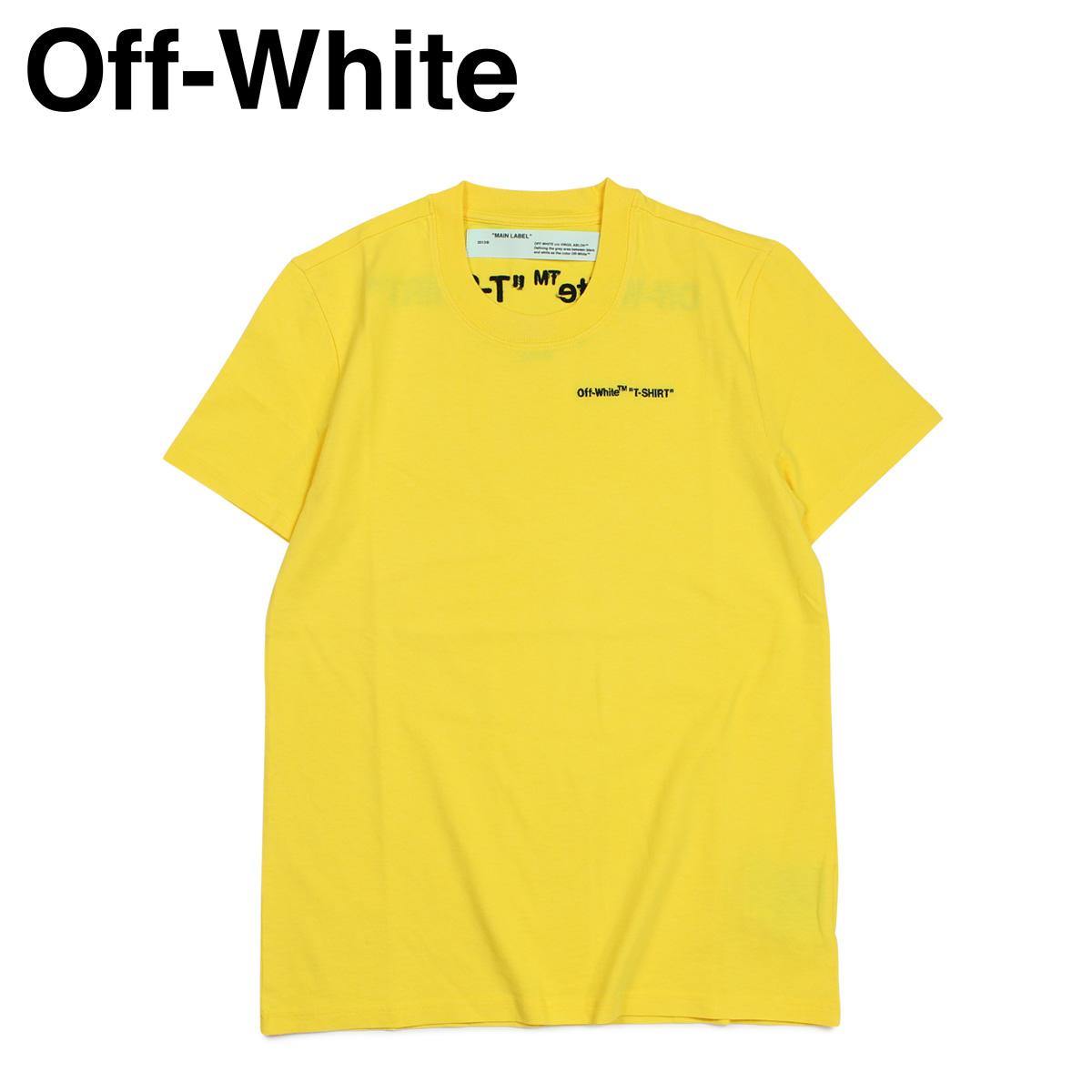オフホワイト Off-white Tシャツ 半袖 レディース メンズ LOGO T-SHIRTS イエロー OWAA049 B07034