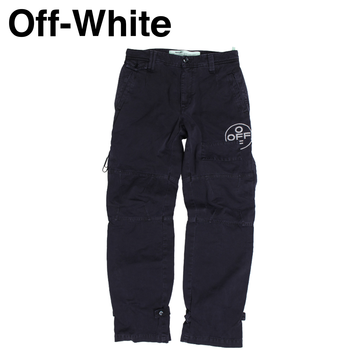 オフホワイト Off-white パンツ メンズ カーゴパンツ TAPERED COTTON CARGO TROUSERS ブラック 黒 OMCG007 515021