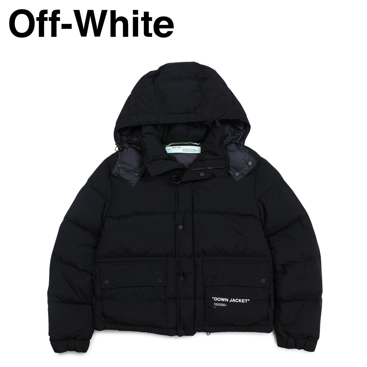 オフホワイト Off-white ジャケット メンズ ダウンジャケット DOWN JACKET ブラック 黒 OMED005 803015