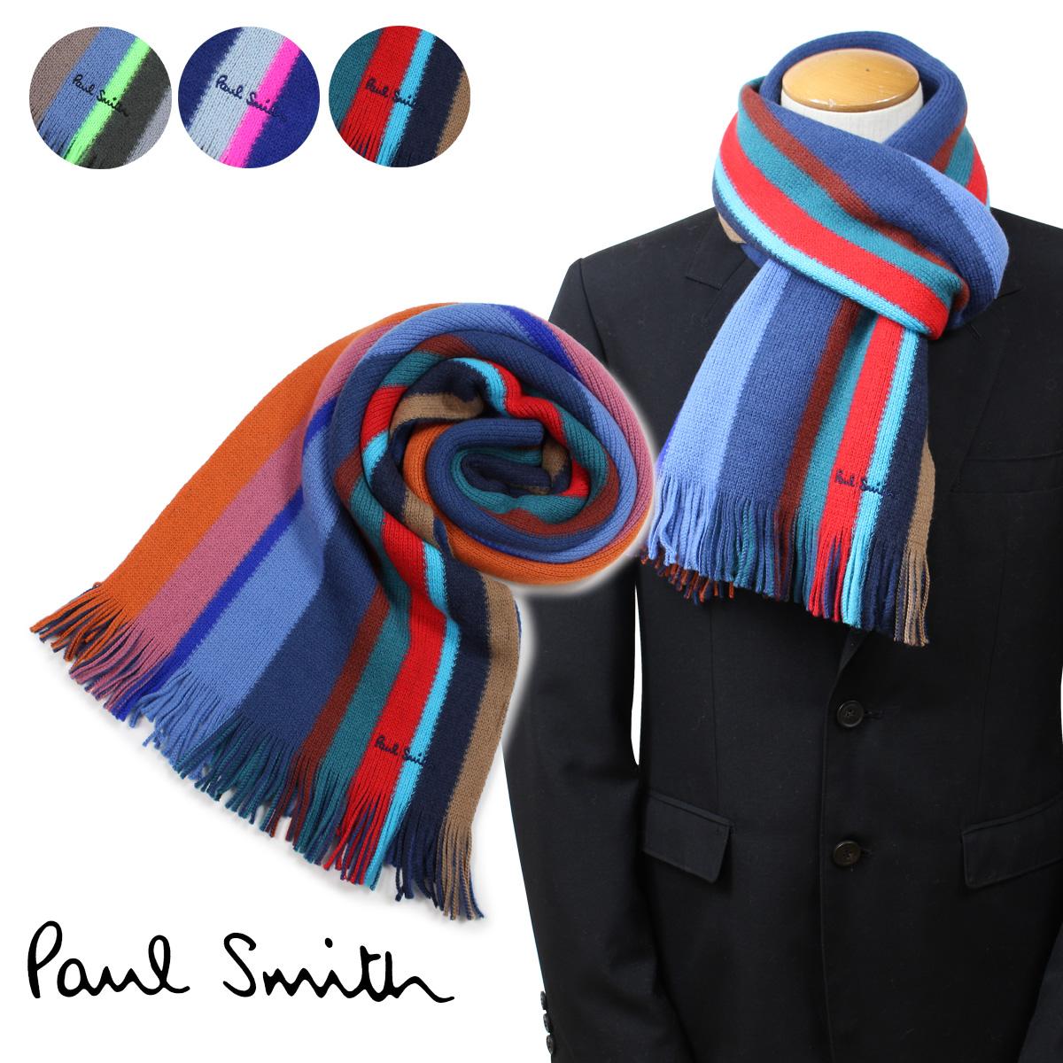 Paul Smith ポールスミス マフラー メンズ ウール マルチカラー 355E-AS10