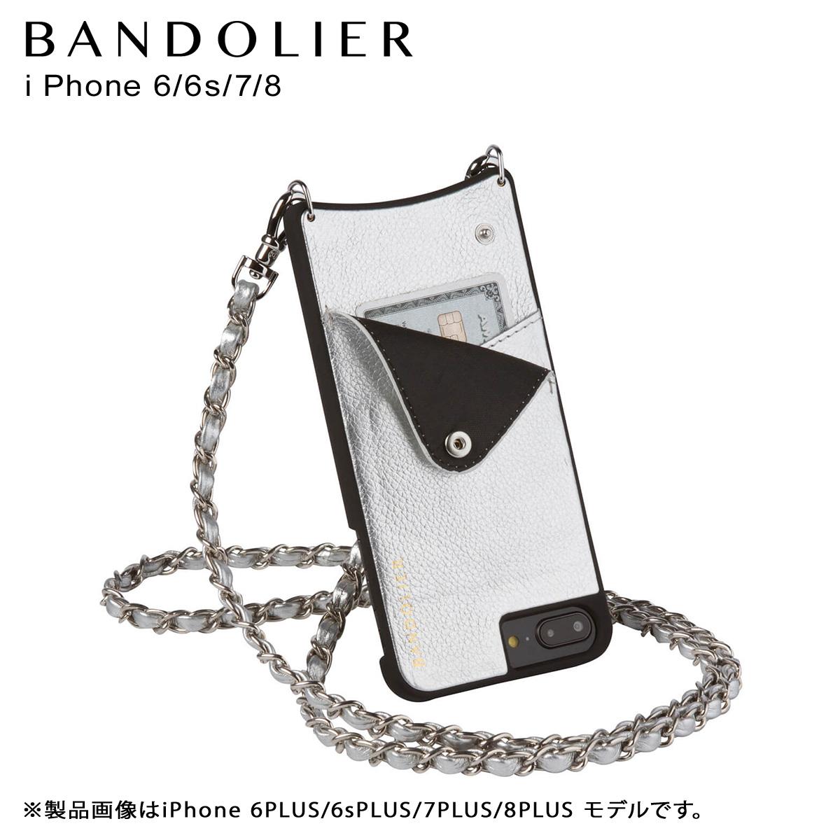 バンドリヤー BANDOLIER iPhone8 iPhone7 6s ケース スマホ アイフォン LUCY RICH SILVER メンズ レディース