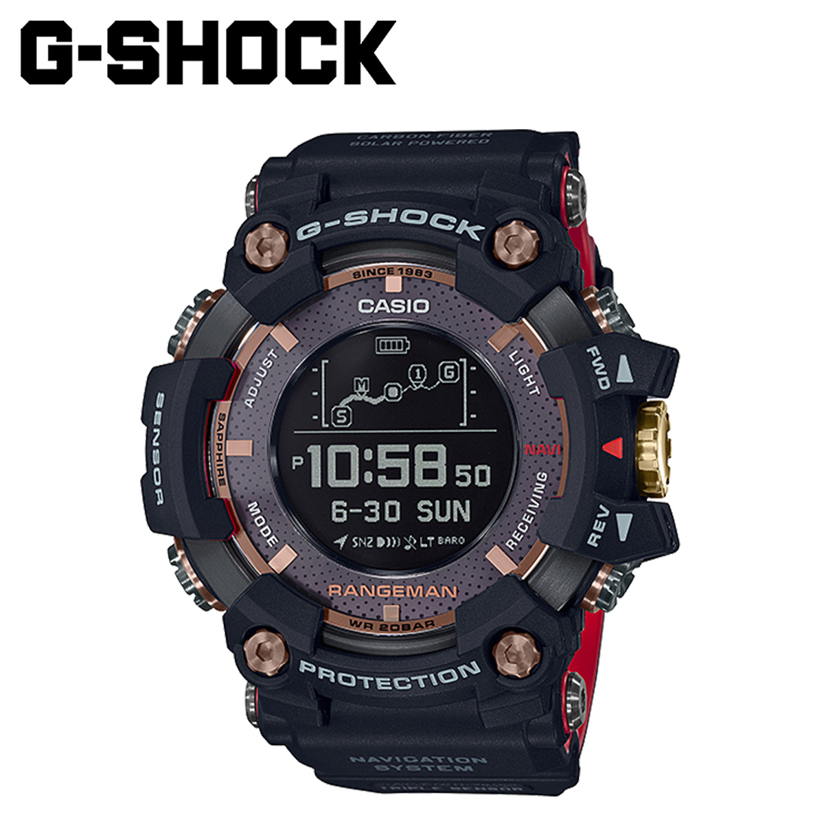 CASIO カシオ G-SHOCK 腕時計 GPR-B1000TF-1JR RANGEMAN MAGMA OCEAN 35周年 ブラック メンズ レディース
