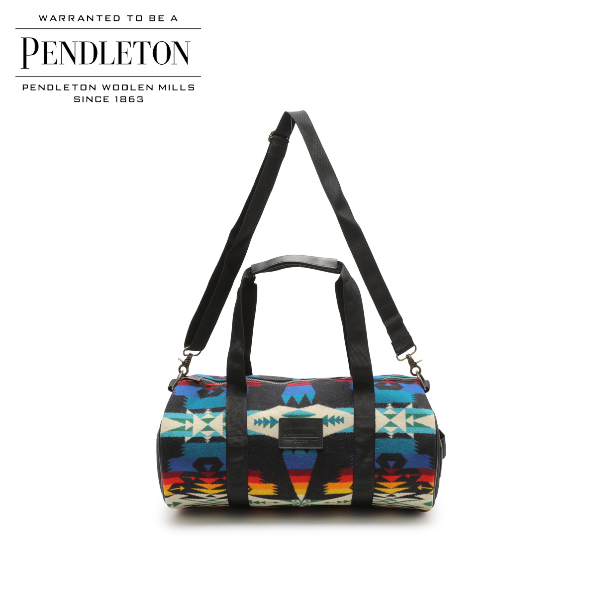 PENDLETON ペンドルトン バッグ ボストンバッグ ROUND GYM BAG メンズ レディース ブラック 黒 GA261
