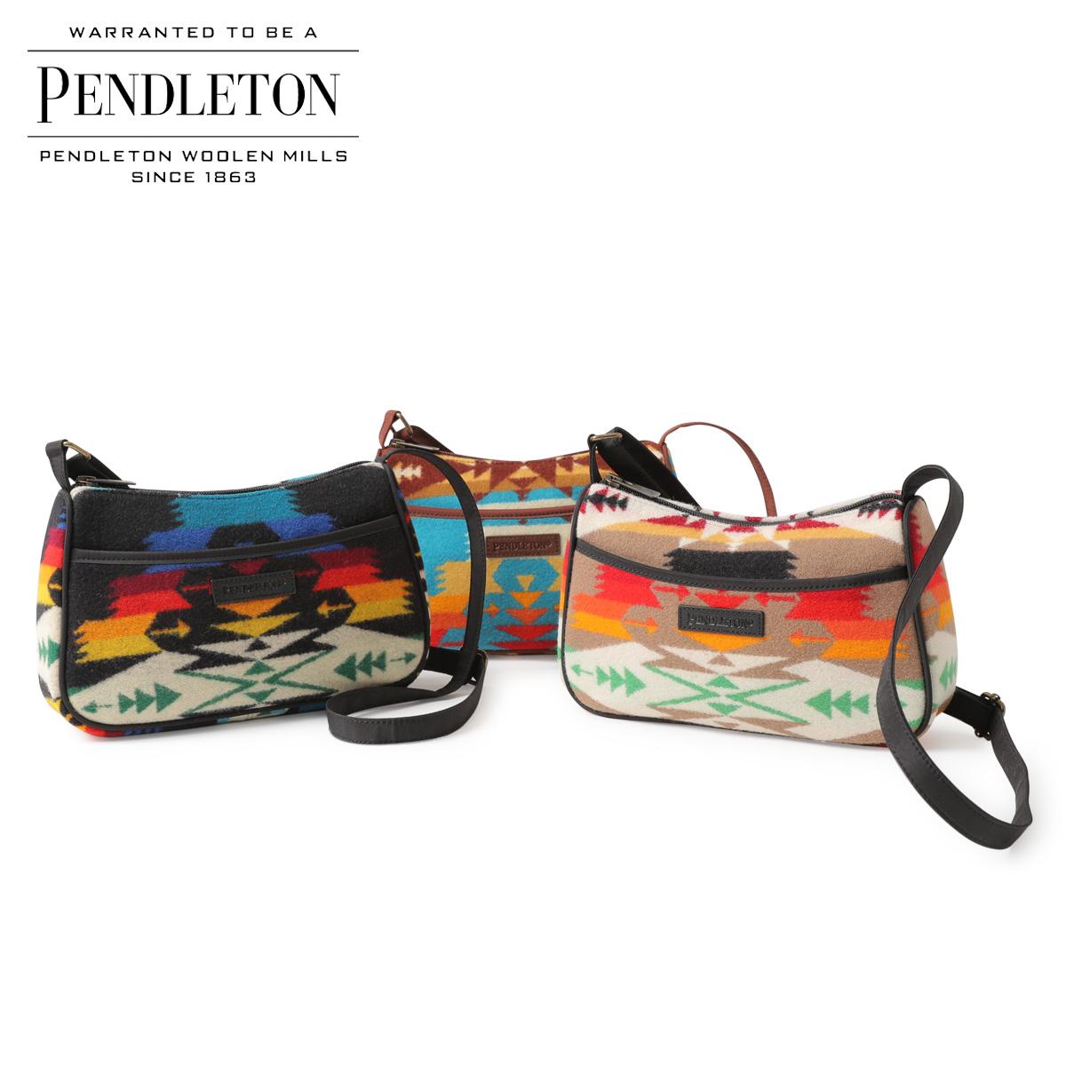 PENDLETON ペンドルトン バッグ ショルダーバッグ CROSSBODY BAG メンズ レディース ブラック 黒 カーキ ターコイズ GD147