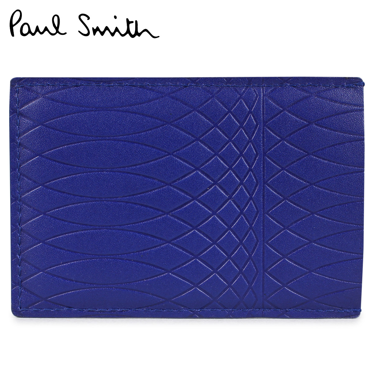 ポールスミス 名刺入れ カードケース メンズ Paul Smith MENS CASE CREDIT CARD HOLDER NO.9 ANXA 4768 W787 ブルー
