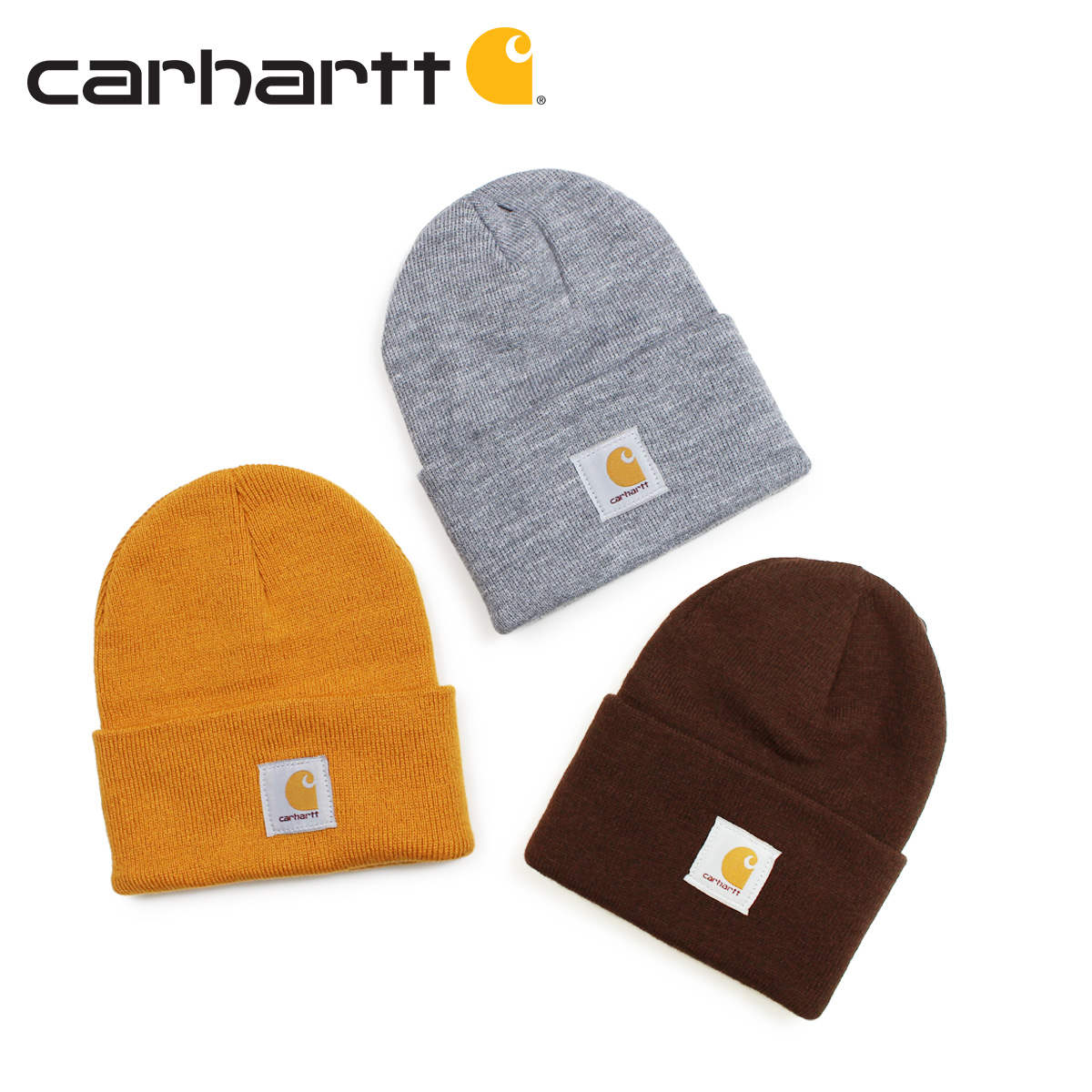 242e25b94 carhartt car heart knit hat knit cap beanie men gap Dis ACRYLIC WATCH HAT  gray dark brown gold A18