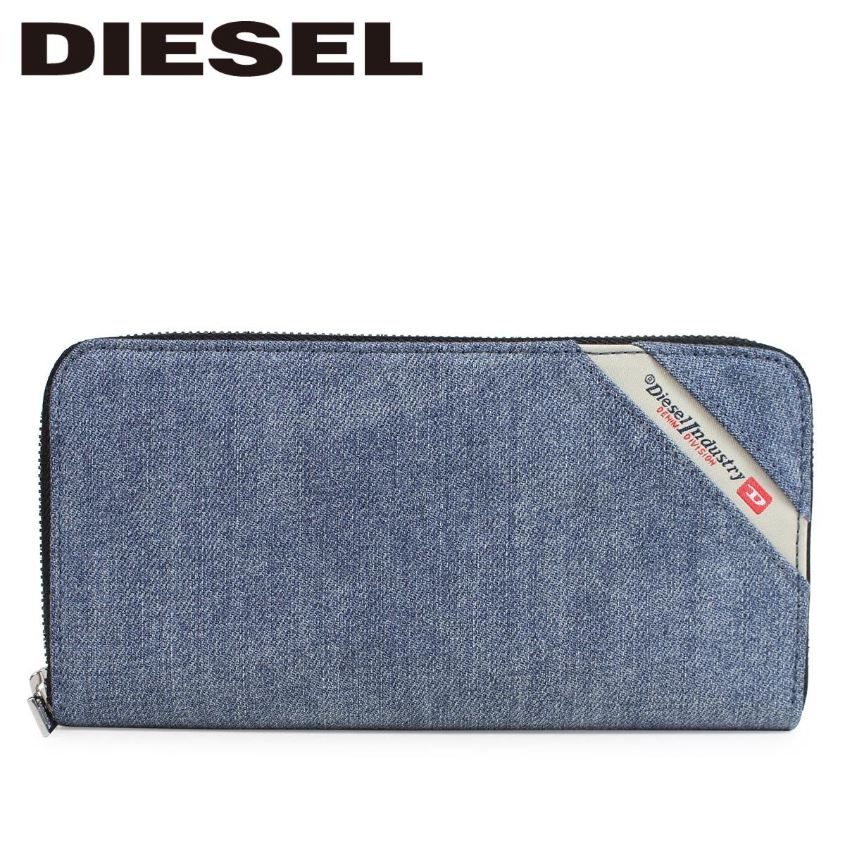 DIESEL 財布 ディーゼル メンズ 長財布 ラウンドファスナー DENIMLINE 24 ZIP ブルー X05271 PS778