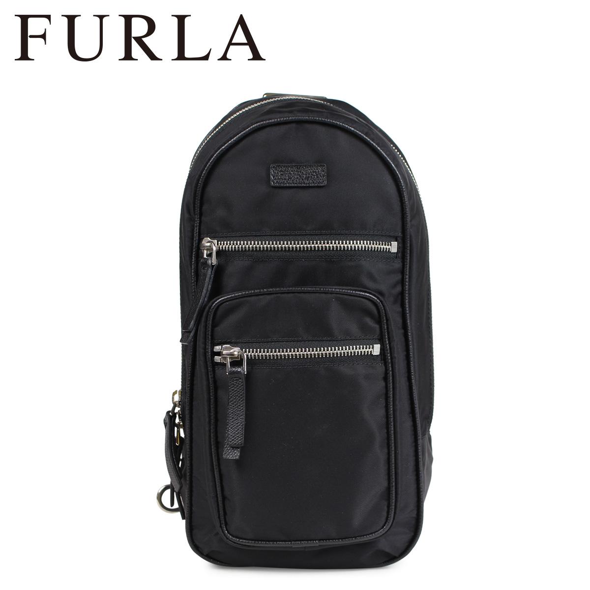 FURLA フルラ バッグ ショルダーバッグ ワンショルダー メンズ FENICE MENS CROSSBODY BAG ブラック 黒 798488