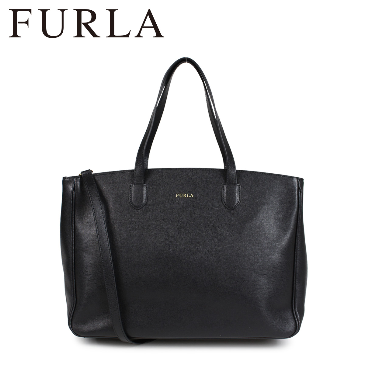 FURLA フルラ バッグ トートバッグ レディース PAMELA LEATHER TOTE BAG ブラック 920603
