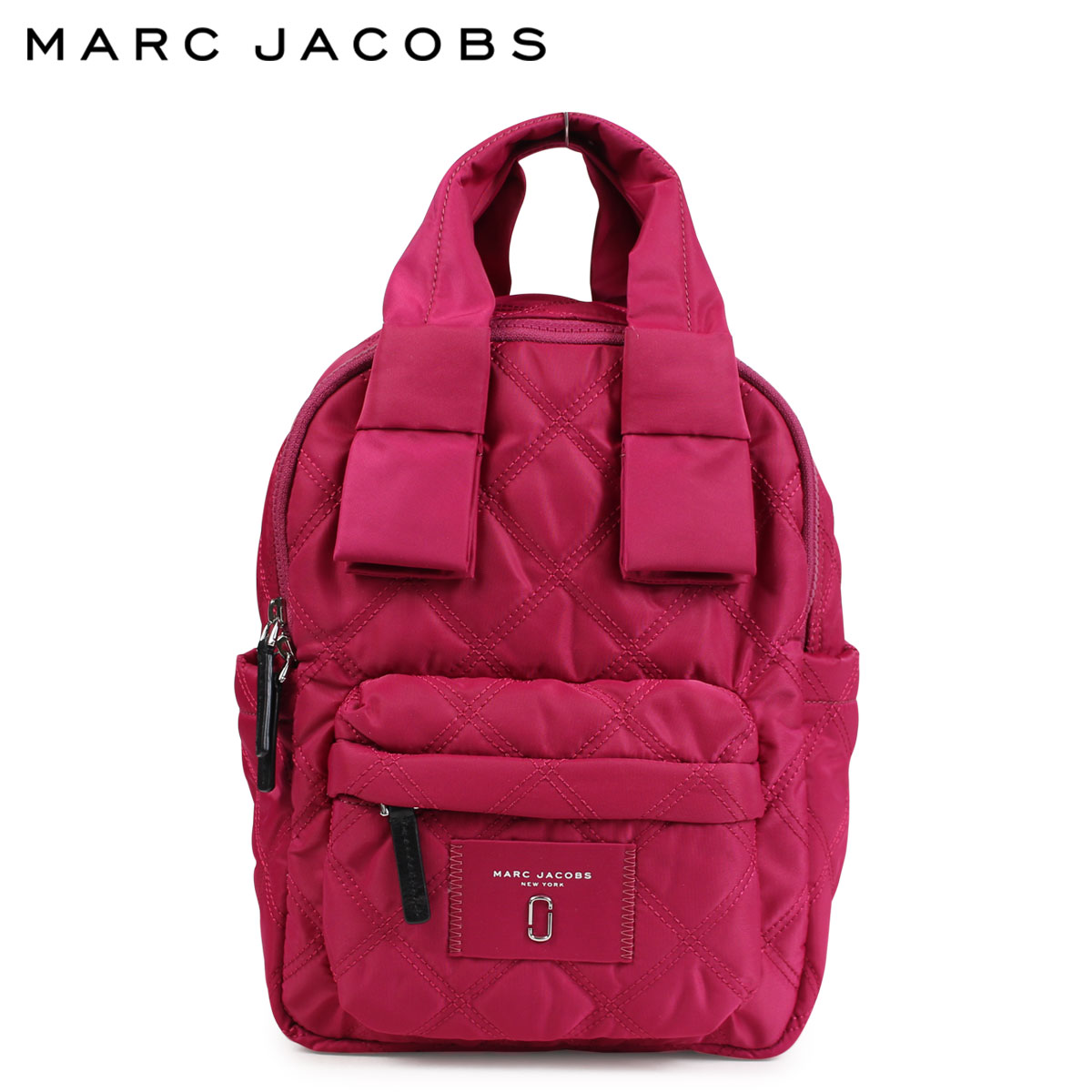 MARC JACOBS マークジェイコブス リュック バッグ バックパック レディース QUILTED NYLON SMALL BACKPACK ラズベリー M0011201