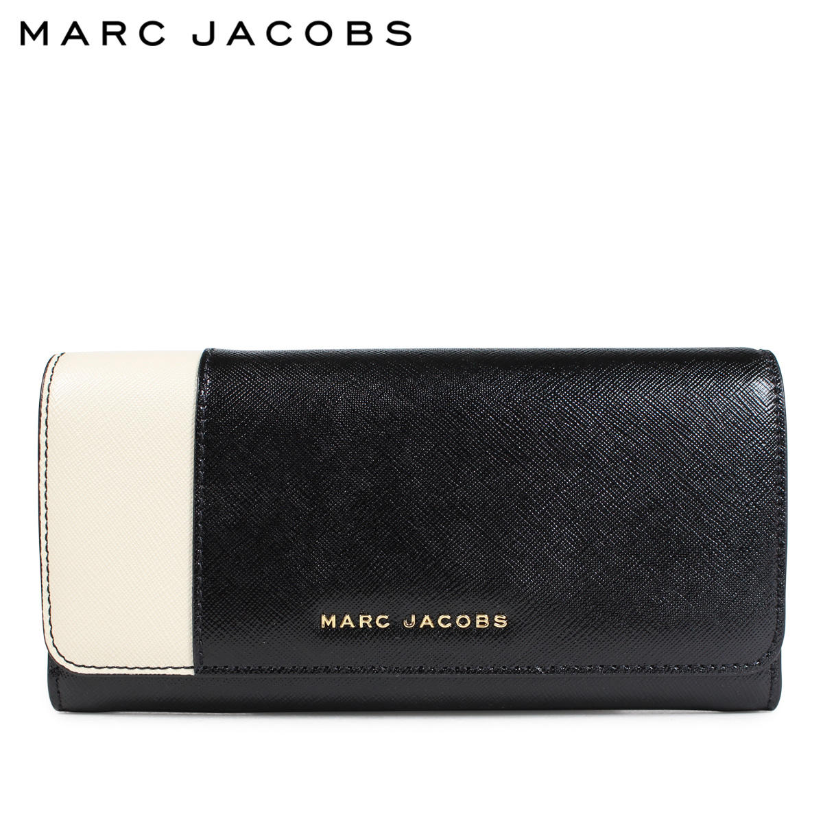 MARC JACOBS マークジェイコブス 財布 長財布 レディース レザー SAFFIANO METAL LETTERS FLAP CONTINENTAL ブラック M0013590