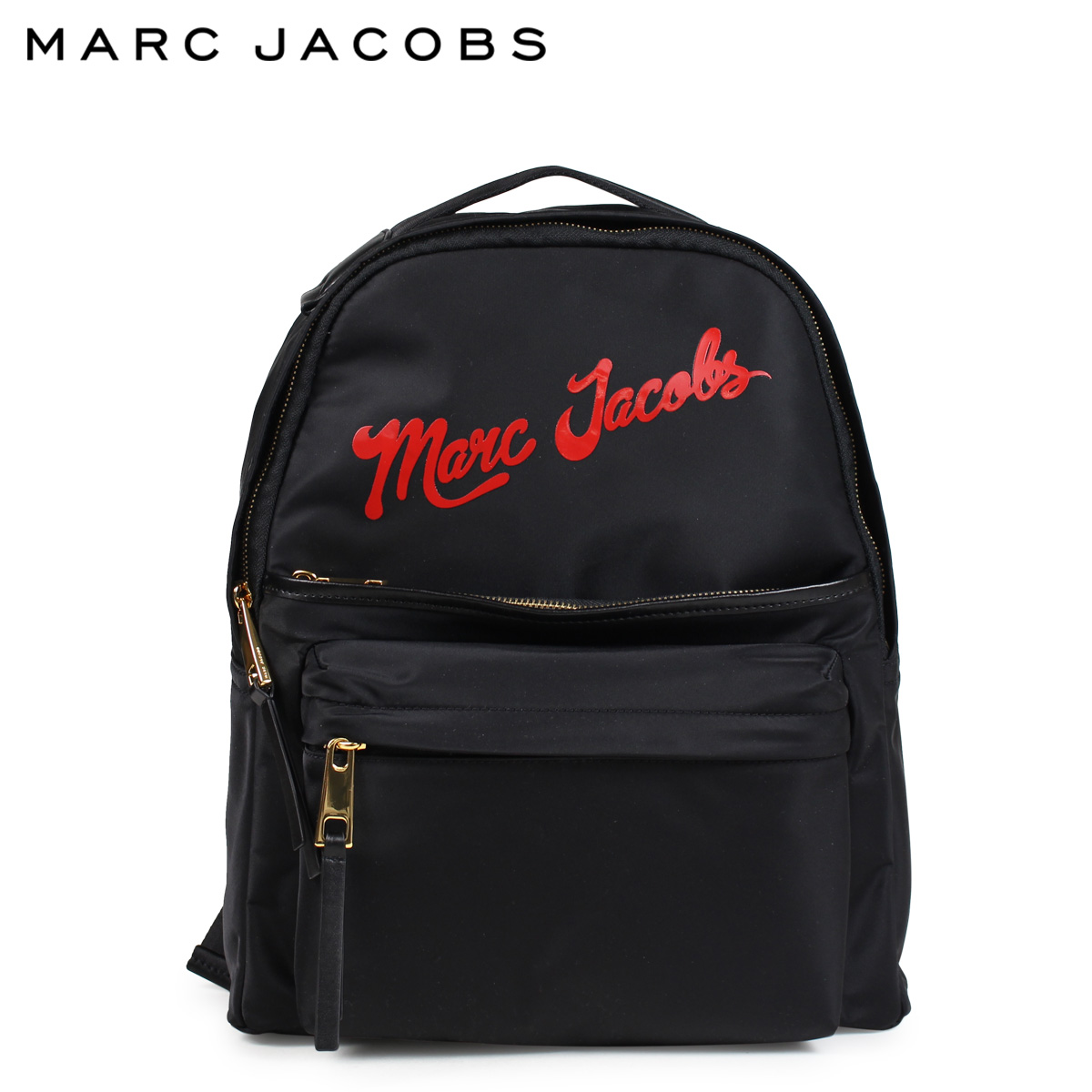 bcf8bb1eca89 MARC JACOBS mark Jacobs rucksack bag backpack Lady s NYLON LARGE BACKPACK  black M0014161  1 8 Shinnyu load