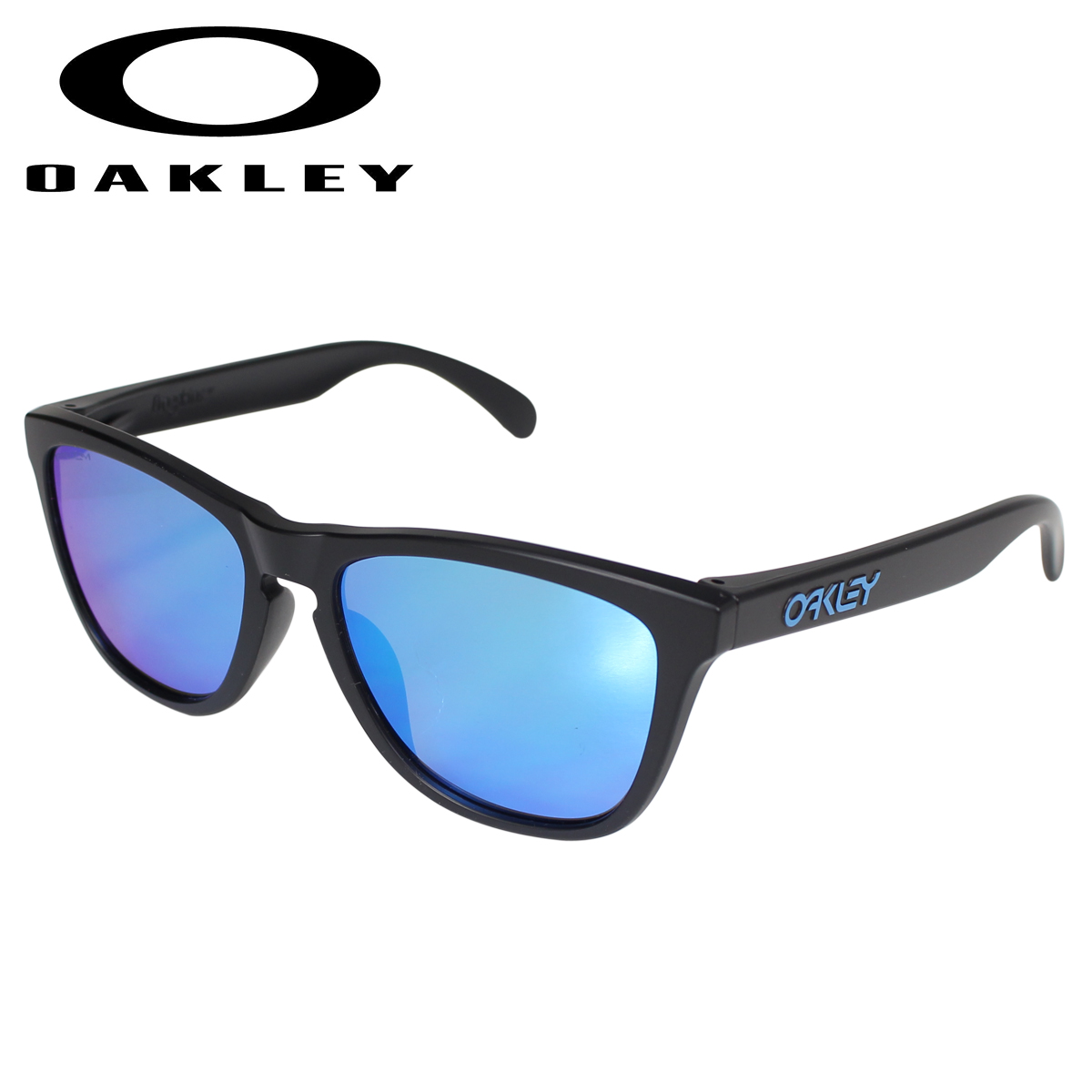 Oakley オークリー サングラス フロッグスキン アジアンフィット メンズ レディース Frogskins ASIA FIT ブラック 黒 OO9245-6154