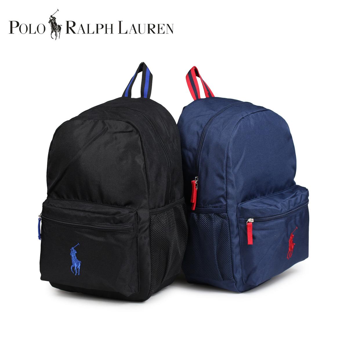new styles 9ab83 1358b POLO RALPH LAUREN polo Ralph Lauren bag rucksack backpack kids black black  navy RA10012