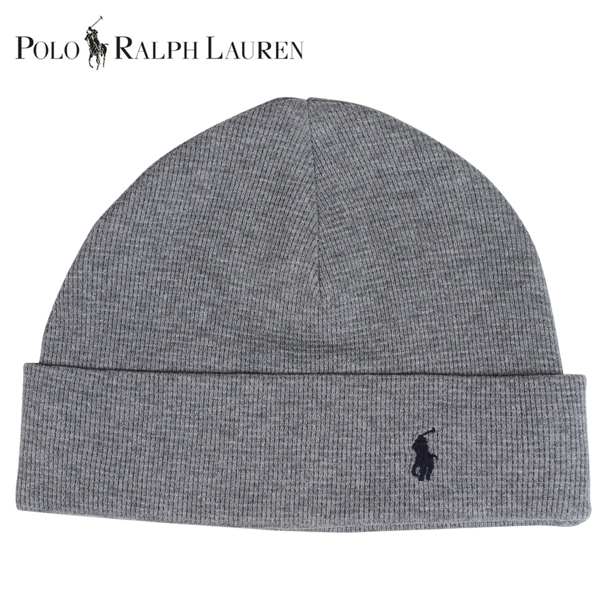 POLO RALPH LAUREN polo Ralph Lauren knit hat knit cap beanie men gap Dis  cotton WAFFLE KNIT COTTON HAT gray 6F0468 86fa79cf551