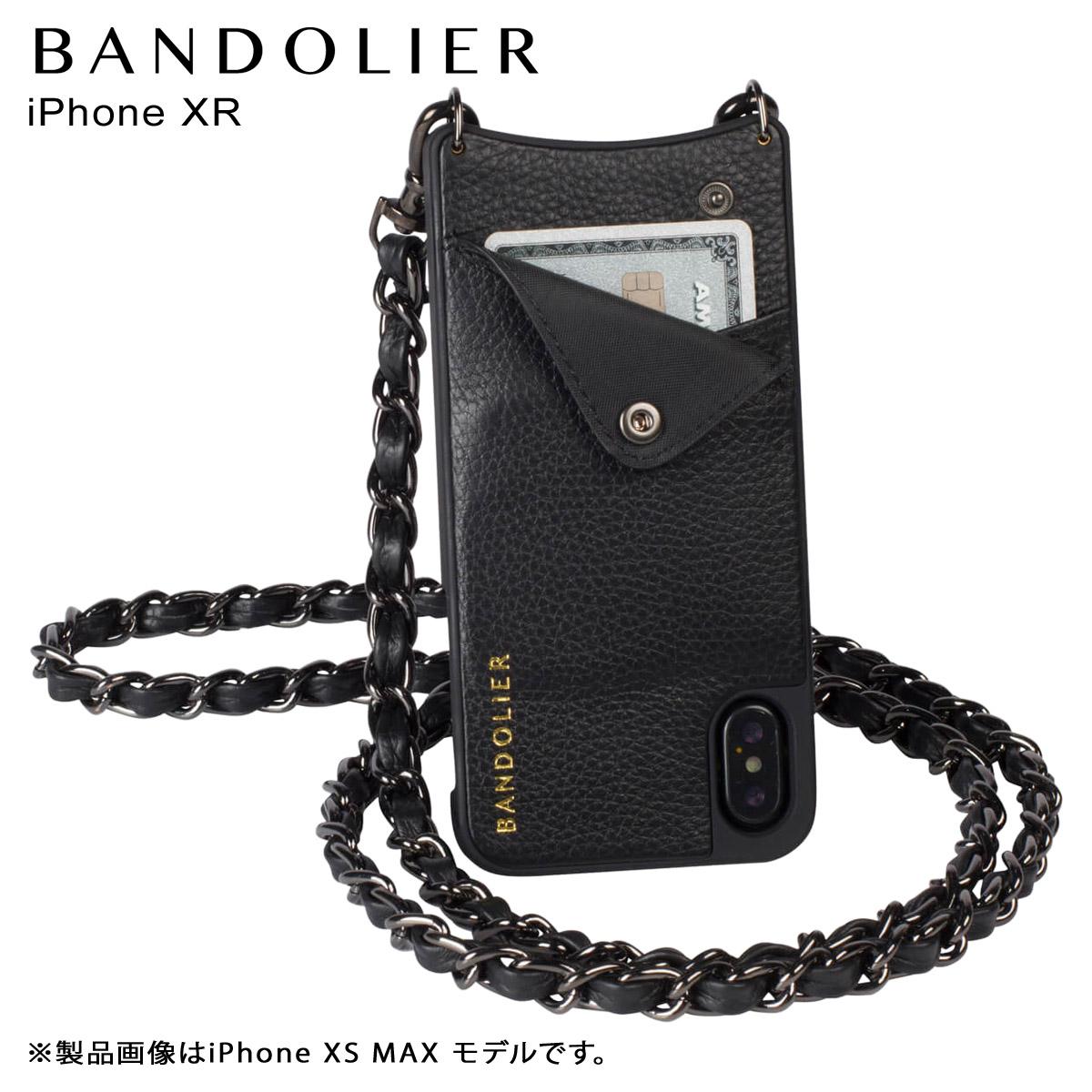 バンドリヤー BANDOLIER iPhone XR ケース ショルダー スマホ アイフォン レザー LUCY PEWTER メンズ レディース ブラック 黒 10LCY1001 [3/18 再入荷]
