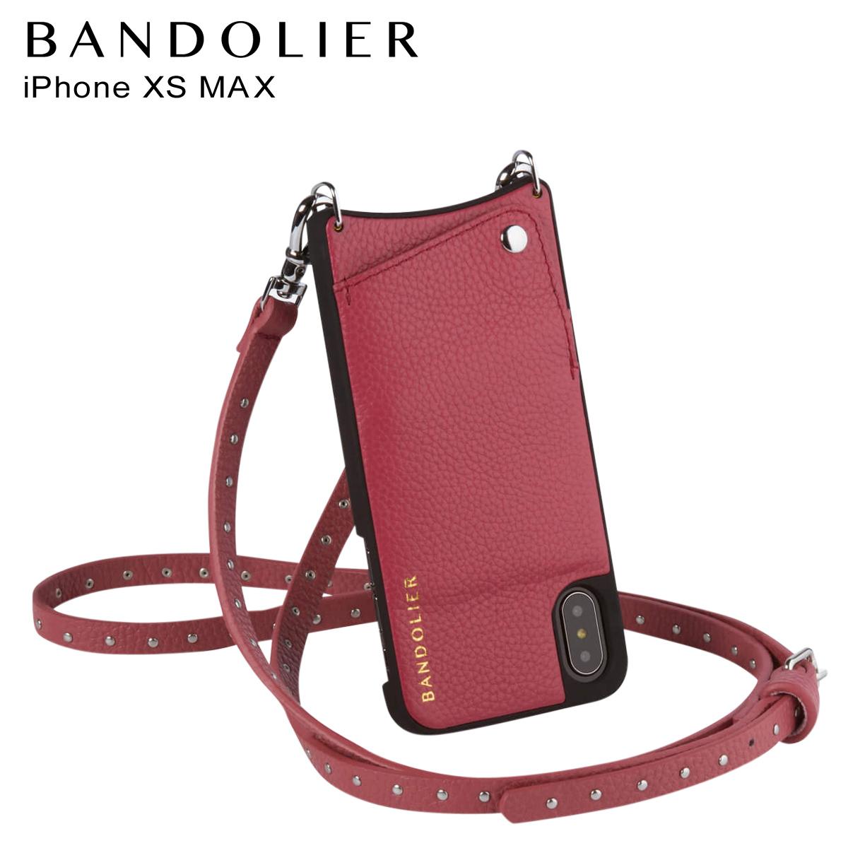 バンドリヤー BANDOLIER iPhone XS MAX ケース ショルダー スマホ アイフォン レザー NICOLE MAGENTA RED メンズ レディース マゼンタ レッド 赤 10NIC1001 [3/18 再入荷]