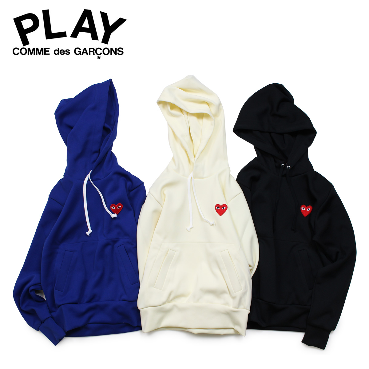 COMME des GARCONS PLAY コムデギャルソン パーカー プルオーバー スウェット レディース RED HEART PATCH ZIP HOODED SWEATSHIRT P1T173 AZ-T173